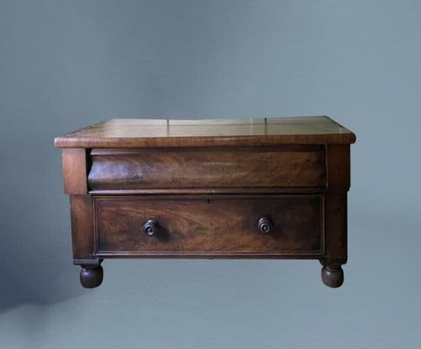Lowboy Antique Mahogany Victorian Chest of Drawers TV Table Unit Coffee Table